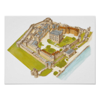 The Tower of London. London Poster