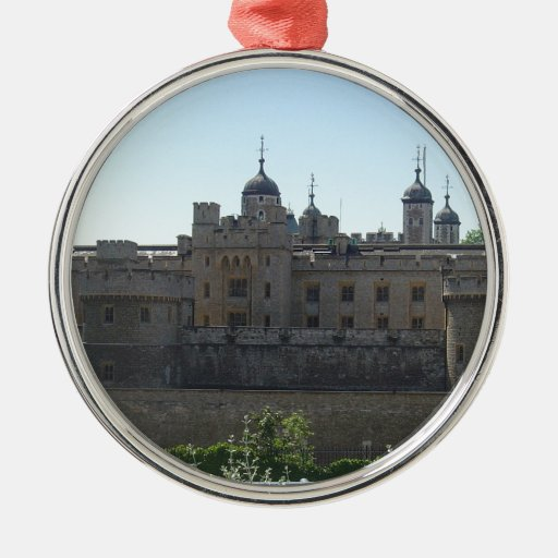 The Tower of London Round Metal Christmas Ornament