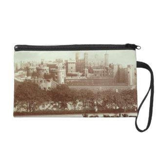 The Tower of London (sepia photo) Wristlet Purse