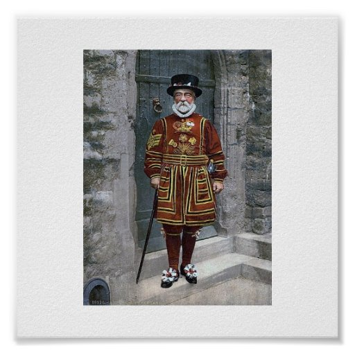 The Tower  Of London  The Yeoman Warder Poster