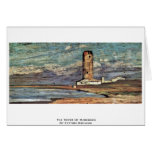The Tower Of Marzocco By Fattori Giovanni Greeting Card