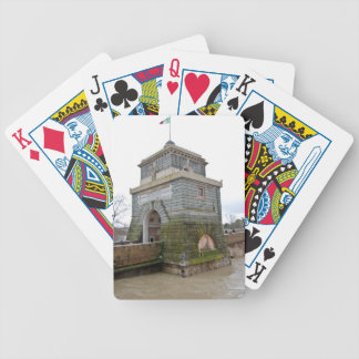 The tower of Ponte Milvio in Rome Bicycle Playing Cards