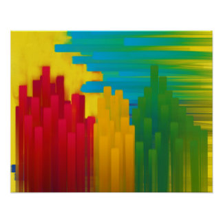 The Towering City Painting Poster