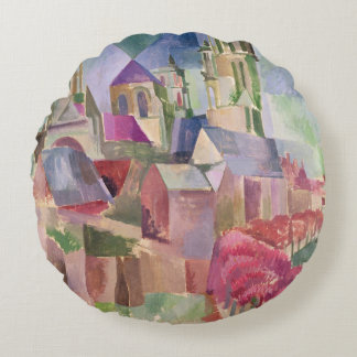 The Towers of Laon, 1911 Round Pillow