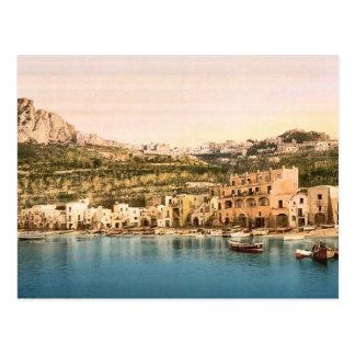 The town, Capri, Island of, Italy classic Photochr Postcard