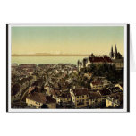 The town, general view showing the alps, Neuchatel Card