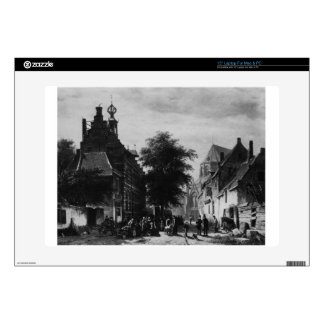 "The Town Hall and Market at Naarden by Cornelis 15"" Laptop Decal"