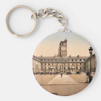The town hall, Dijon, France classic Photochrom Keychain