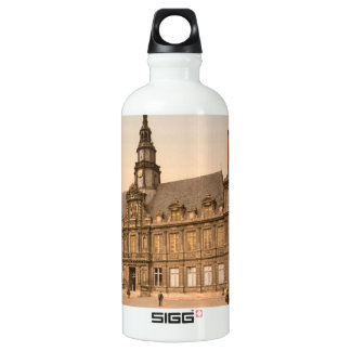 The Town Hall, Rhiems, France Aluminum Water Bottle