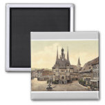 The town hall, Wernigerode, Hartz, Germany rare Ph Magnets