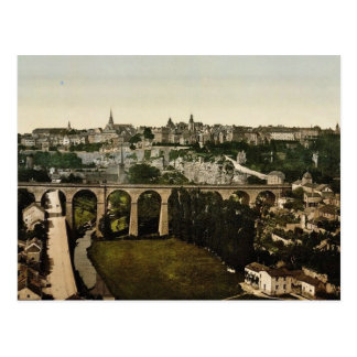 The town, Luxembourg classic Photochrom Postcard