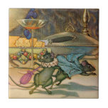 The Town Mouse and The Country Mouse Ceramic Tile