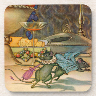 The Town Mouse and The Country Mouse Coaster