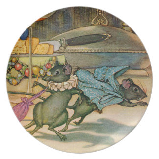 The Town Mouse and The Country Mouse Party Plates