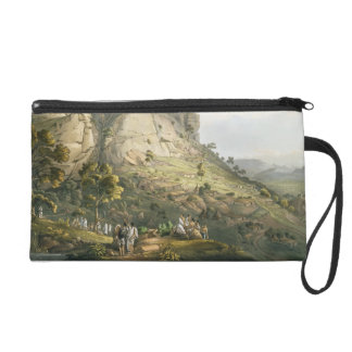 The Town of Abha in Abyssinia, engraved by J. Bluc Wristlet Clutches