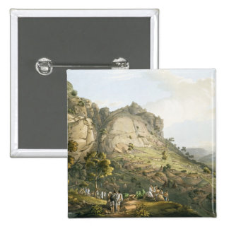 The Town of Abha in Abyssinia, engraved by J. Bluc Pinback Buttons