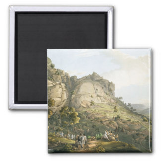 The Town of Abha in Abyssinia, engraved by J. Bluc Fridge Magnet