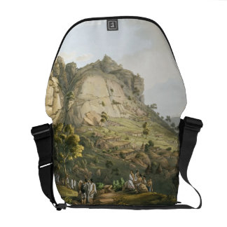 The Town of Abha in Abyssinia, engraved by J. Bluc Messenger Bag