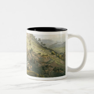 The Town of Abha in Abyssinia, engraved by J. Bluc Mug