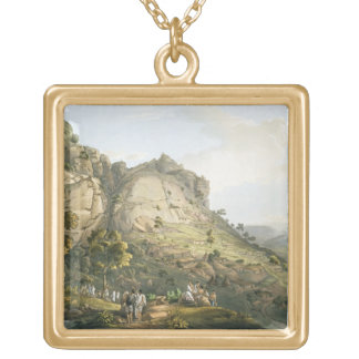 The Town of Abha in Abyssinia, engraved by J. Bluc Necklaces