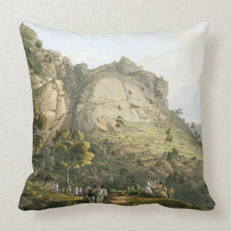 The Town of Abha in Abyssinia, engraved by J. Bluc Pillows