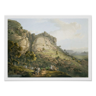The Town of Abha in Abyssinia, engraved by J. Bluc Poster