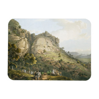 The Town of Abha in Abyssinia, engraved by J. Bluc Flexible Magnets