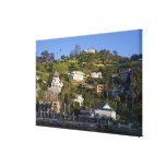 The town of Avalon on Catalina Island, Stretched Canvas Print