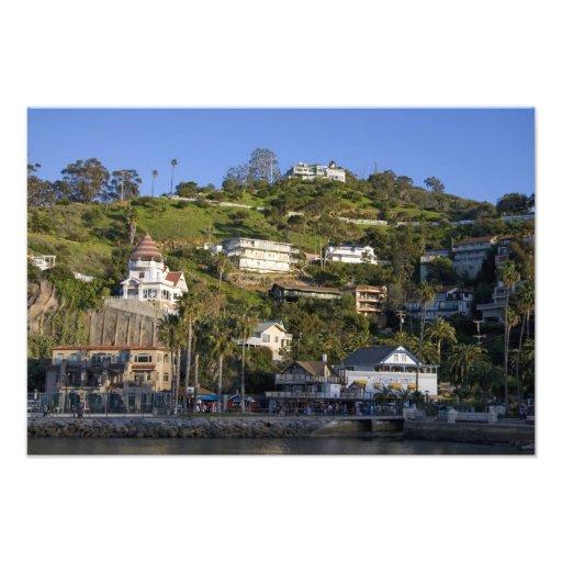 The town of Avalon on Catalina Island, Photo Art