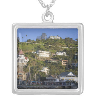 The town of Avalon on Catalina Island, Silver Plated Necklace