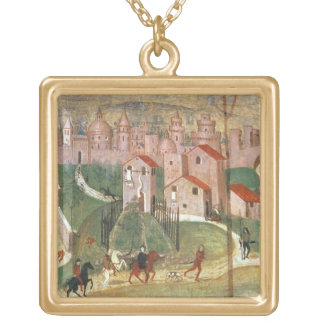 The Town of Prato (fresco) Gold Plated Necklace