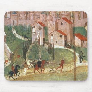 The Town of Prato (fresco) Mouse Pad