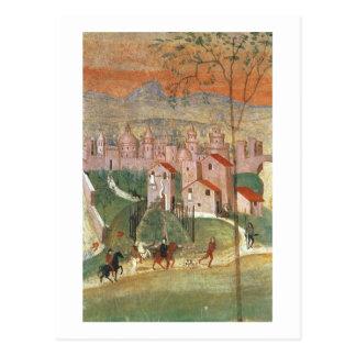 The Town of Prato (fresco) Post Card