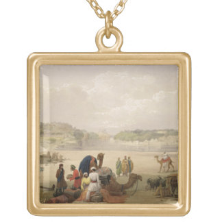 The Town of Roree, and the Fortress of Bhukker, on Custom Necklace