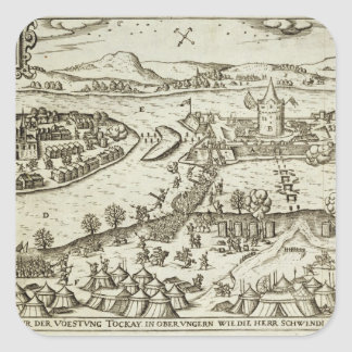 The Town of Tokay Recovered from the Turks by Herr Square Sticker