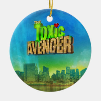 The Toxic Avenger Double-Sided Ceramic Round Christmas Ornament