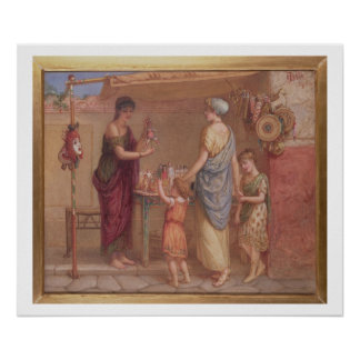 The Toy Seller, 1879 (w/c and bodycolour on paper) Poster