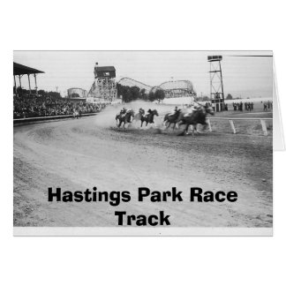 the track, Hastings Park Race Track Card