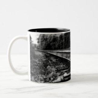 The tracks Two-Tone coffee mug