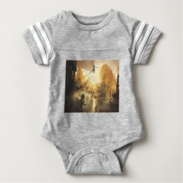 Beach Themed The Traders Port Baby Bodysuit