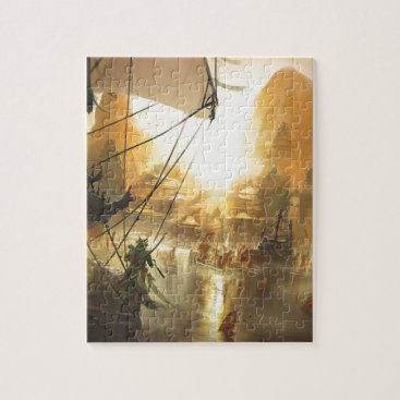 Beach Themed The Traders Port Jigsaw Puzzle