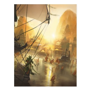 Beach Themed The Traders Port Postcard