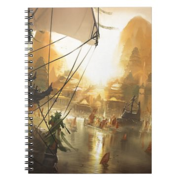 Beach Themed The Traders Port Spiral Notebook