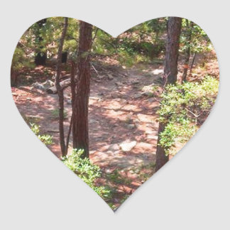 The Trail Back Down Heart Sticker