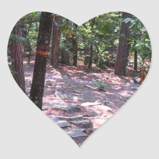 The Trail to Robber's Cave Heart Sticker