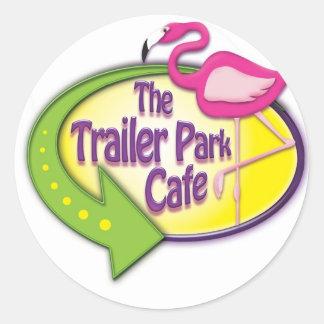 The Trailer Park Cafe Designs Classic Round Sticker