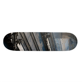 the train and tracks skate board deck