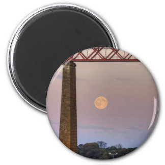 The train flew over the Moon 2 Inch Round Magnet