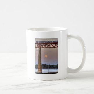 The train flew over the Moon Classic White Coffee Mug