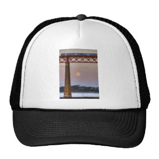 The train flew over the Moon Trucker Hat